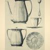 1. Cafetière. 2. Cuillière. 3. Sucrier. 4 et 5. Tasse et soucoupe.
