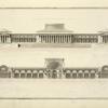 Coupe et elevation du museum de Mr Delannoy sur une echelle double de cette du plan.