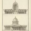 Coupe et elevation de la cathedrale de Mr Combe.