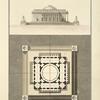 Plan et elevation du pavillion du prince de la menagerie de Mr Vaudoyer.
