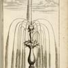 [Fountain with multiple spouts on two levels.]