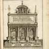 Drawing of the fountain of Moses in Rome, mostra of the Acqua Felice aqueduct.]