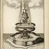 [Fountain with central basin and sculpture of nude youth carrying an urn.]
