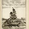 [Fountain with sculpture of Hercules fighting Cerberus.]
