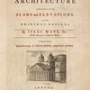 A complete body of architecture, [Title page]