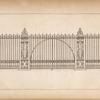 [Example of iron railing with gate.]