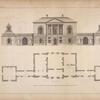 Plan and elevation of a design for a gentleman near London.]