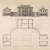 Plan and elevation of a house built for Alexander Johnston, Esq; in Scotland.]