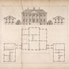 Plan and elevation of a building designed for James Murray, Esq; of Broughton at Kellie.]