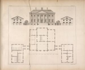 [Plan and elevation of a building designed for James Murray, Esq; of Broughton at Kellie.]