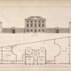 Plan and elevation of a house intended to have been built opposite Chesterfield House, May Fair.]