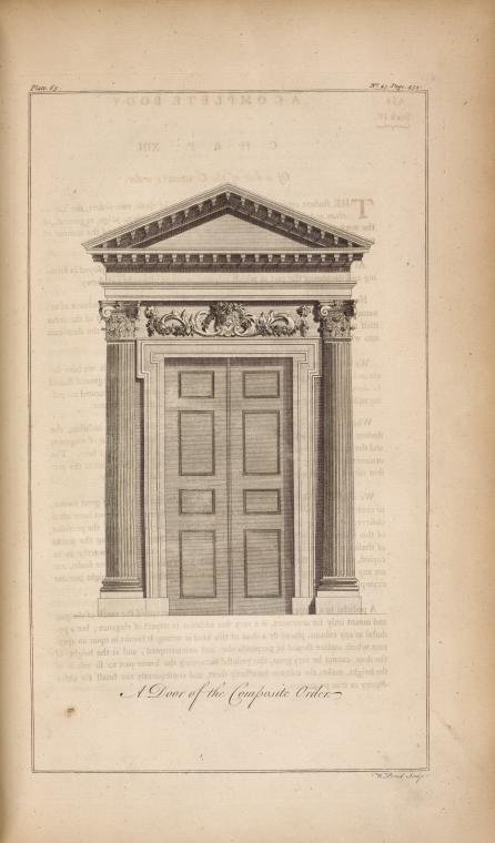 This is What W Proud and A door of the composite order Looked Like  in 1756