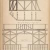 [The temporary bridge, with its section, at London bridge.]