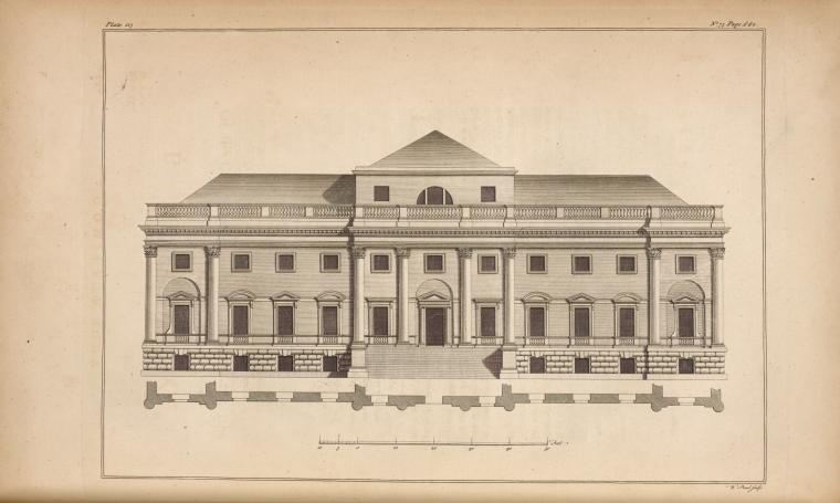 This is What W Proud and [A corinthian front.] Looked Like  in 1756