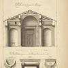 Du portique du Panthéon, à Rome; profil sur la largeur de portique [...]