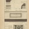 Du portique du Panthéon à Rome; profil du l'architrave du costé interieur [...]