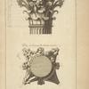 Du dedans du Panthéon à Rome; chapiteau des colonnes dessiné sur l'angle [...]