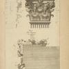 Du dedans du Panthéon, à Rome; profil par le milieu de la face; parties du chapiteau des pilastres plan renversé.
