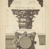 Des petits autels du Panthéon, à Rome; chapiteau des colonnes dessinés sur l'angle [...]