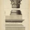 Des petits autels du Panthéon, à Rome; chapiteau des colonnes du second autel à gauche en extrant; les bases des [?] colonnes font attiques [...]
