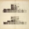 Profils du temple de Faune à Rome.