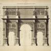 Élèvation de l'arc de Constantin, à Rome.