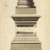 De l'arc de Constantin, à Rome; base des colonnes; base et corniche des piedestaux