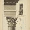 De l'arc de Constantin, à Rome; soffite du larmier; profil par le milieu de la face du chapiteau des colonnes