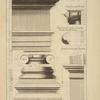 Du seconde ordre du Colisée, à Rome; chapiteau par le costé; profil par le milieu de la face de costé du chapiteau; imposte et bandeau des arcs.