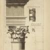 Du troisième ordre du Colisée, à Rome; soffite d'une partie de la corniche; profil par le milieu du chapiteau des colonnes.