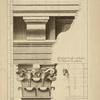 Du quatrième ordre du Colisée, à Rome; profil par le milieu de la face du chapiteau des pilastres.