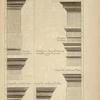 De l'exterieur de l'amphithéâtre de Verone; entablement du prer. ordre; entablement du troisième ordre; [...]