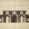 Profil de la grande salle des thermes de Diocletian, à Rome.