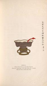 Purple Ting ware of the Sung dynasty; water-pot brush-washer with fluted sides (lit. a hundred folds) and band of coiling silk worms.