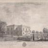 Vue partere de la maison italienne à Kouskowa appartenant à S. E. le Cte P. de Cheremettoff, representée sur occident et nord. [sic]