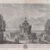 Vue partere de pavillon rond sur le canal au bout du jardin de Kouskowa appartenant à S. E. le Cte P. de Cheremettoff à labyrinthe. [sic]