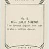 Julie Suedo.
