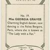 Georgia Graves.