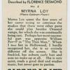 Myrna Loy (Metro-Goldwyn-Mayer).