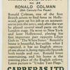 Ronald Colman (20th Century-Fox Player).