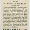 Claudette Colbert (Universal Star).