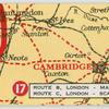 Route B. London - Manchester: Route C. London - Scarborough.