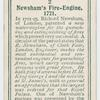 Newsham's fire-engine, 1721.