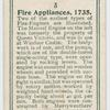 Fire appliances, 1738.