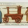 Manual fire-engine, late 18th century.