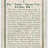 """The """"Hodge"""" steam fire-engine, 1841."""