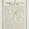 """Hodges"" manual fire-engine, 1862."