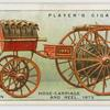 Hand-drawn hose-carriage and reel, 1873.
