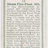 Steam fire-floate, 1874.