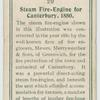 Steam fire-engine for Canterbury, 1880.